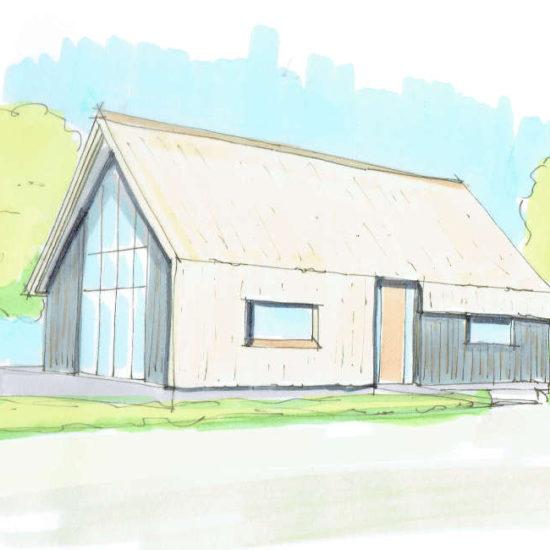 Nul op de Meter Woning moderne woning landelijke gebied rietgedekte kap hout ontworpen door architectenbureau hoogsteder architecten te Raalte