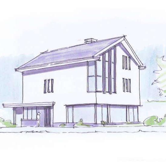 Moderne woning voor een gezin, fransiscushof, hoogsteder architecten te raalte.