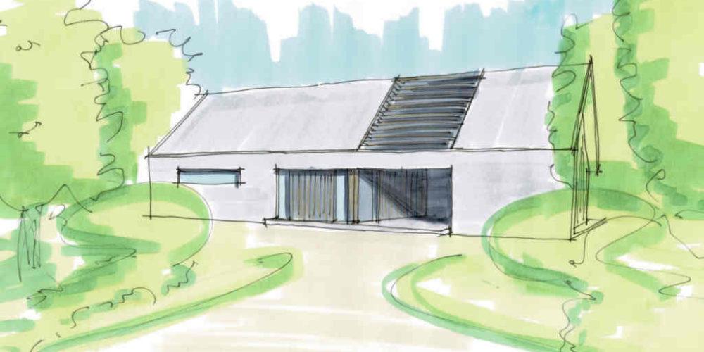 Moderne schuurwoning, landelijk, Ron Hoogsteder, Hoogsteder architecten Raalte