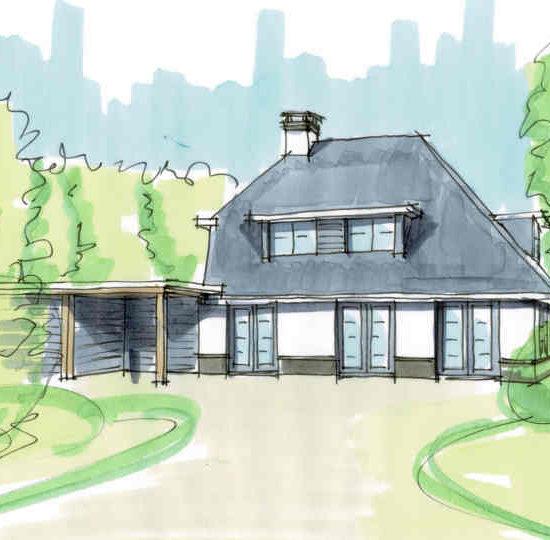 Ontwerp modern landhuis in landelijk gebied moderne villa ontwerp architect hoogsteder architecten te raalte www.hoogstederarchitecten.nl