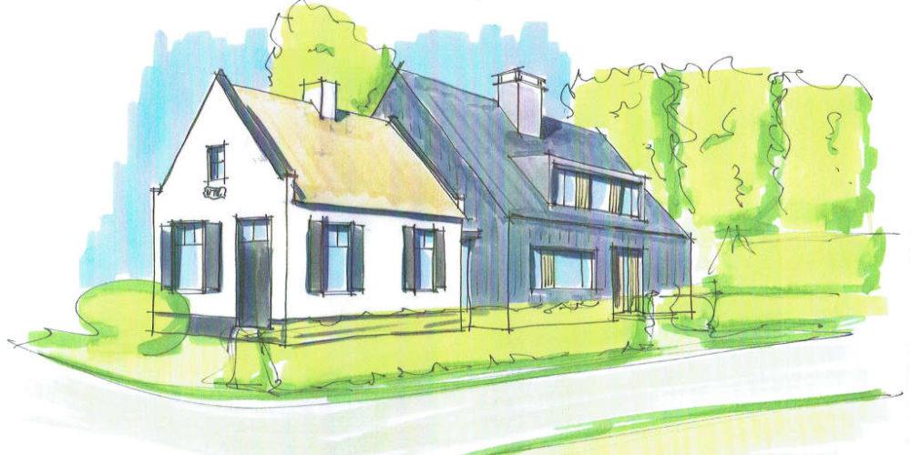 Tolhuis raalte ,gemeentelijk monument,moderne villa, donkere houten gevel, vlakke dakpan, eigentijds, moderne nieuwbouw
