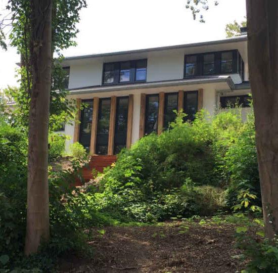 Bosvilla, moderne villa in het bos, een moderne woning met plat dak ontworpen door moderne architectenbureau hoogsteder architecten raalte haarle heino marienheem ommen hoogeveen en omgeving