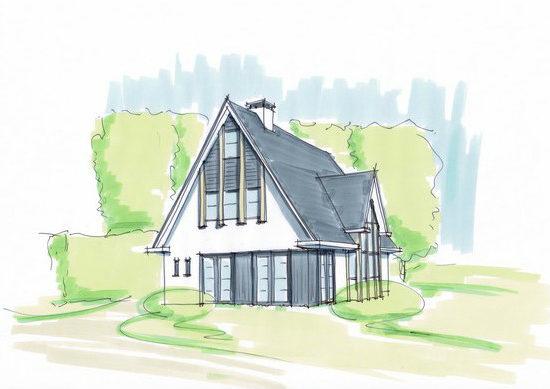 Woning met houten details, kap en veel glas waardoor er mooi zicht ontstaat op de tuin. Ontworpen door architectenbureau Hoogsteder architecten. Wij luisteren naar uw wensen en ideeën, brengen dit samen met onze creativiteit en expertise om u droomwoning te realiseren. Onze expertise: moderne woningen en landelijke schuurwoningen, energiezuinig en circulair bouwen. jaren 30 stijl jaren 30 woning