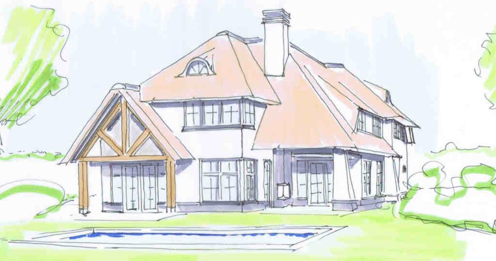 rietgedekt landhuis rietgedekte villa rietgedekte huizen hoogsteder architecten raalte