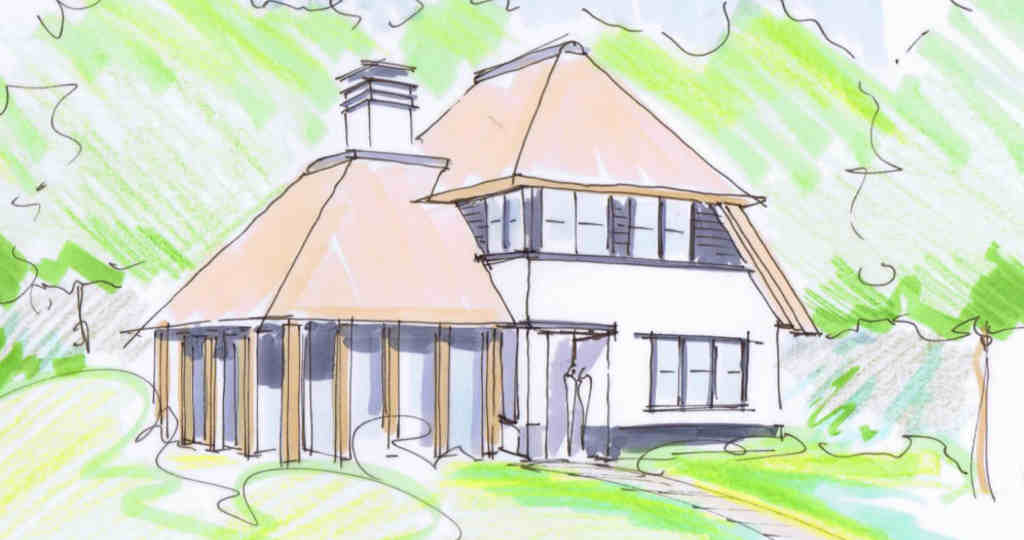 rietgedekte huis bouwen rietgedekte villa architect villa