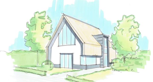rietgedekte modere villa rietgedekte villa bouwen rietgedekte huizen architectenbureau hoogsteder architect