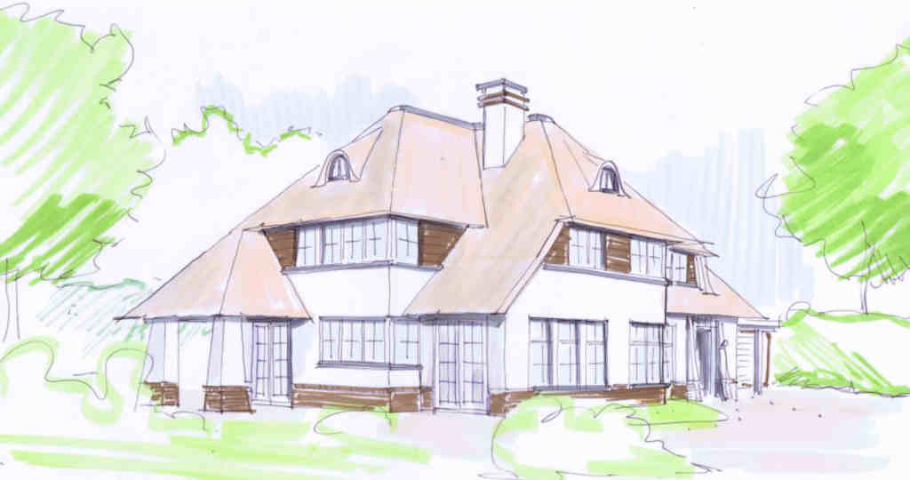 rietgedekte woning rietgedekte huizen riegedekt landhuis rietgedekte villa architectenbureau hoogsteder