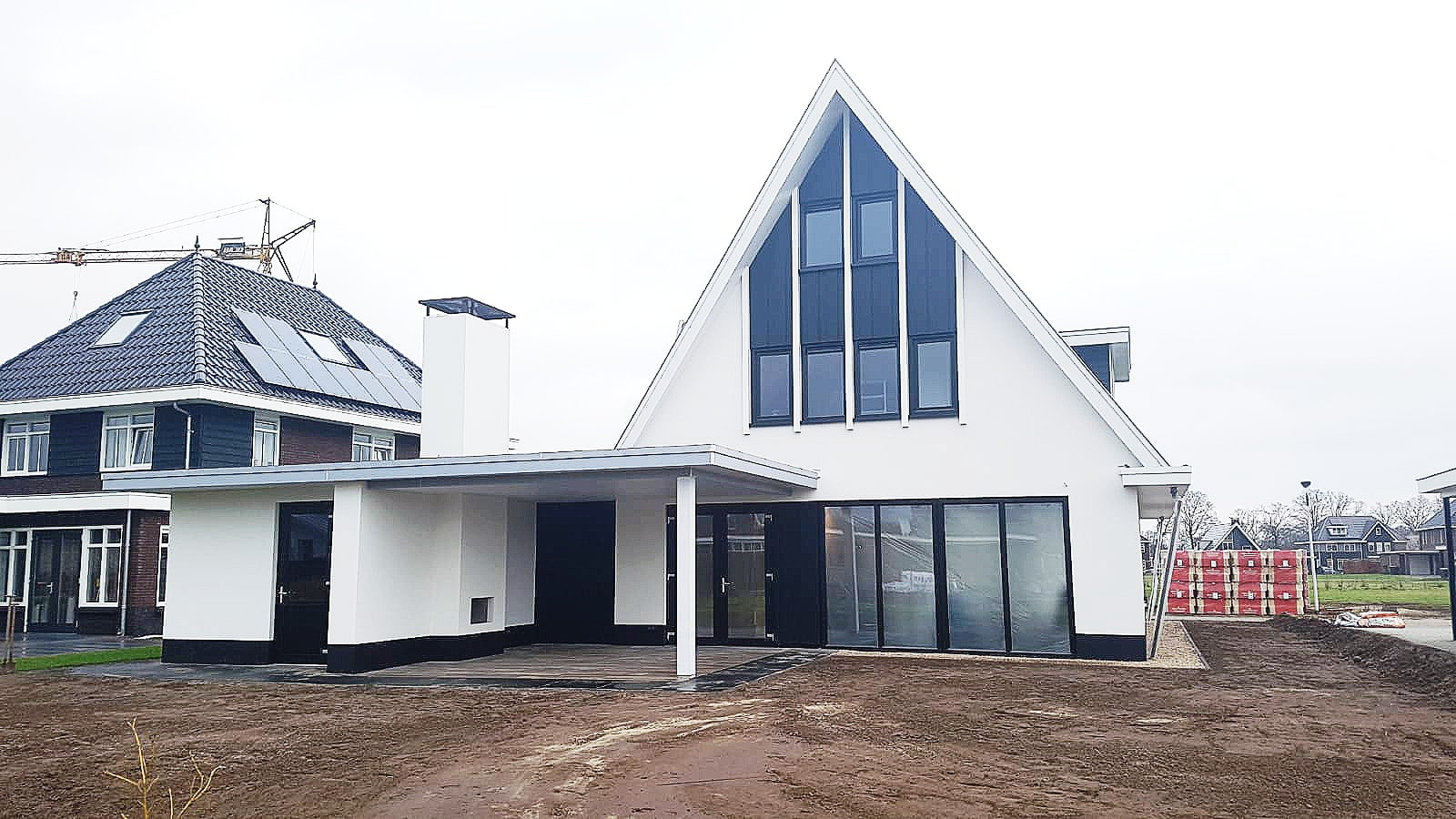 Vrijstaande moderne nieuwbouw woning architectenbureau hoogsteder