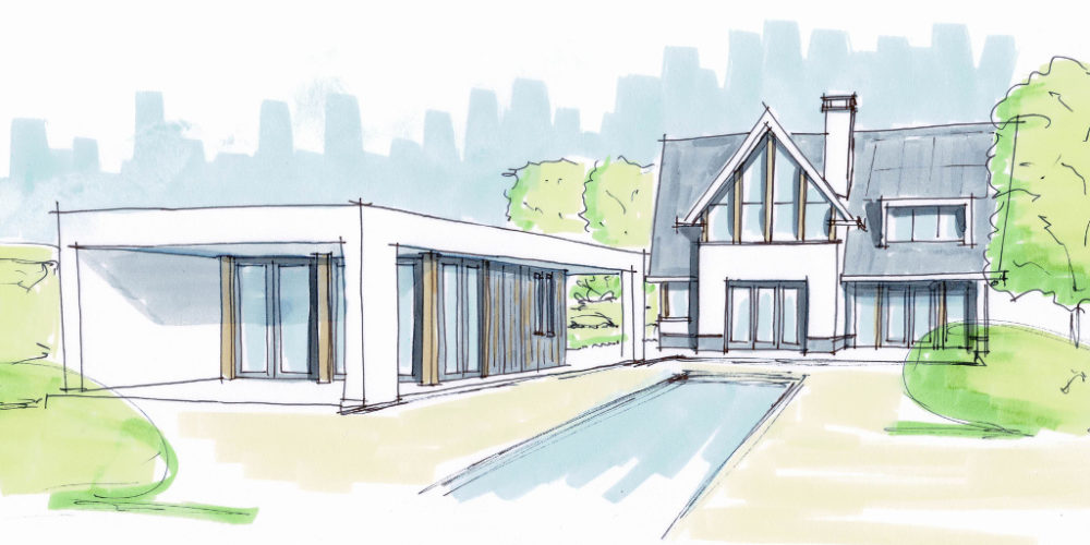 Moderne woning_poolhouse_bijgebouw_nieuwbouw villa