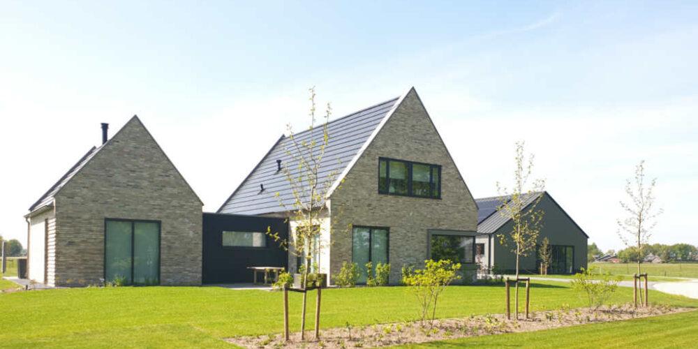 moderne woning baksteen luttenberg