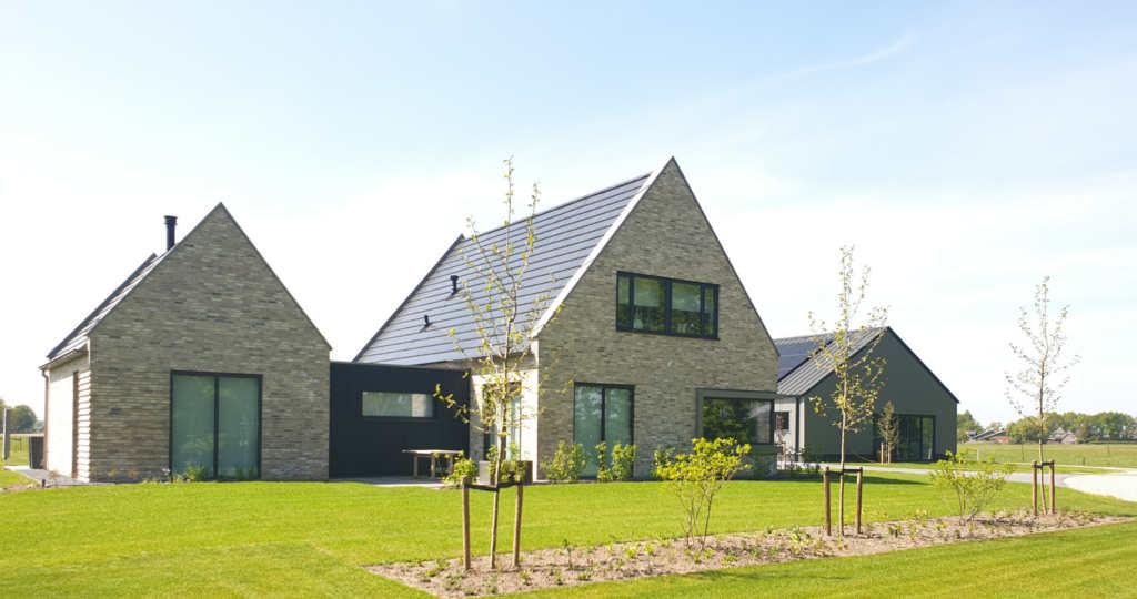 architect landelijke woning moderne woning baksteen luttenberg