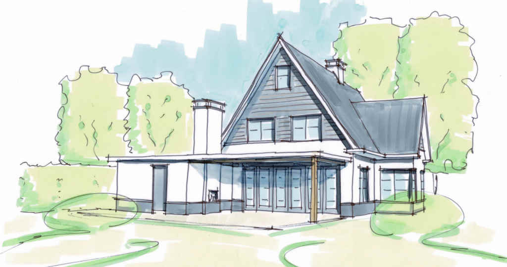 luxe woning met kap en buitenruimte veranda wit gestuct