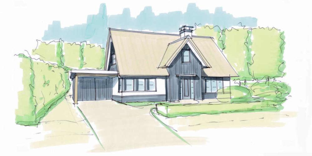 villa met riet rietgedekte woning riet kap wit stucwerk hout antraciet modern hoogsteder architecten