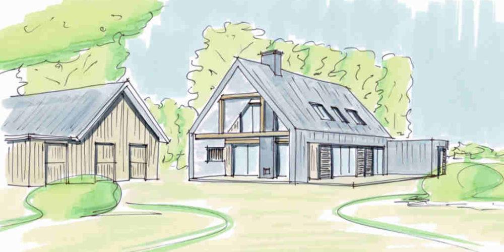 moderne landelijke schuurwonig kosten prijzen hoogsteder architecten