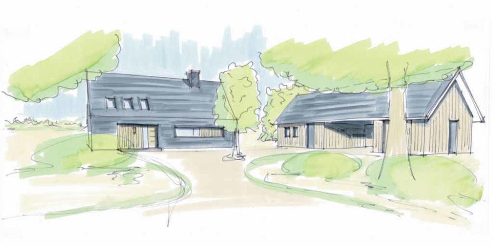 moderne schuurwoning hout boeren erf hoogsteder architecten