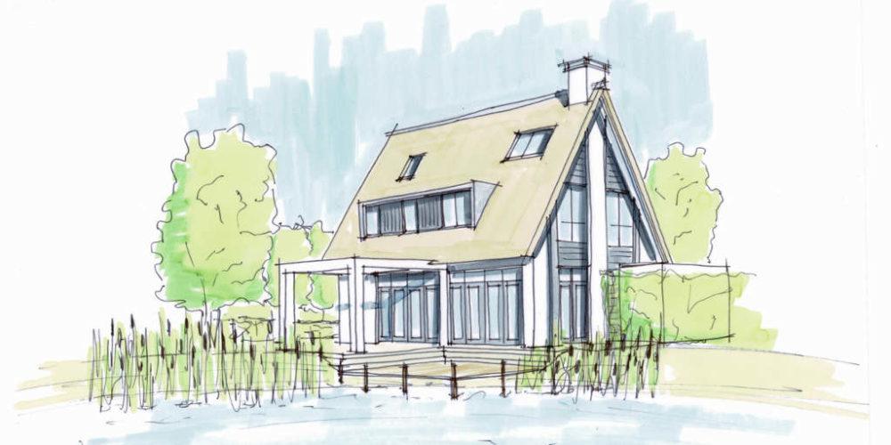 eigentijds rietgedekte villa aan het water architectenbureau hoogsteder architecten