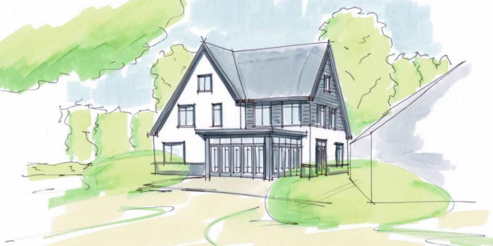 royale landelijke villa antraciet hout en stucwerk architectenbureau hoogsteder architecten