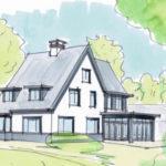 Belt schutsloot royale rustieke villa met landelijke uitstraling architectenbureau hoogsteder architecten Deventer