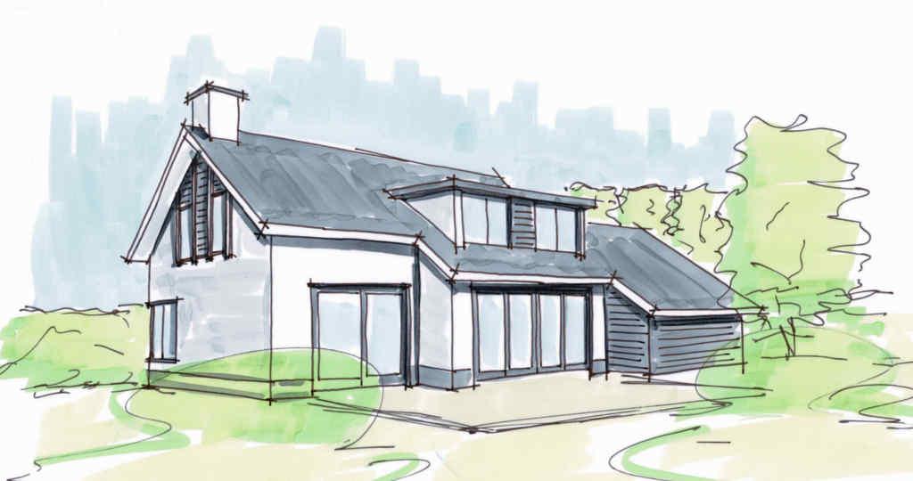 witte woning met hout Hoogsteder architecten