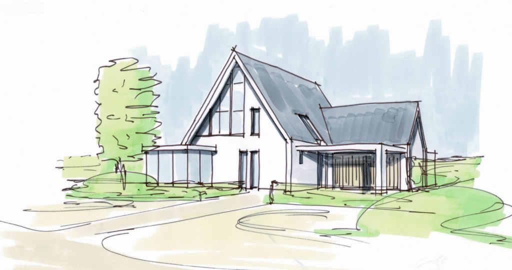 zwolle nieuwbouw huis wit gestuct hoogsteder architecten